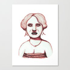 Middle Aged Woman at Party Canvas Print