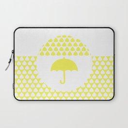 Yellow Umbrella Laptop Sleeve