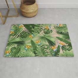 Bird of Paradise Jungle Leaves Dream #2 #tropical #decor #art #society6 Rug