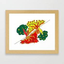 Rooted caress Framed Art Print