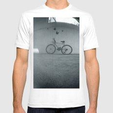 Bike Mens Fitted Tee White MEDIUM