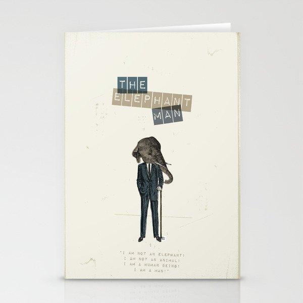The elephant man Stationery Cards