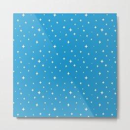 Zetta Stars Blue Metal Print