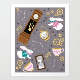 Late For The Party Art Print