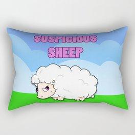Suspicious Sheep Rectangular Pillow