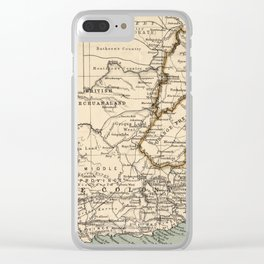 Vintage Map of South Africa (1889) Clear iPhone Case