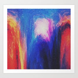 Melted galaxia Art Print