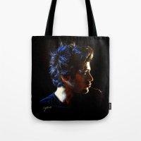 zayn Tote Bags featuring Blue Zayn by Cyrilliart