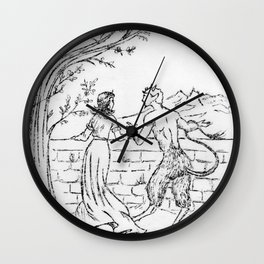 Reunion of Friends (copper plate engraving) Wall Clock