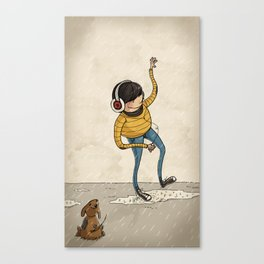 Hipster & Pet Canvas Print