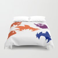 dragon ball z Duvet Covers featuring Z Fighters by luvusagi