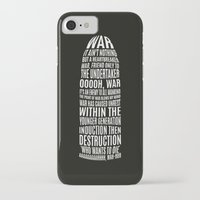 war iPhone & iPod Cases featuring War by bipidesign
