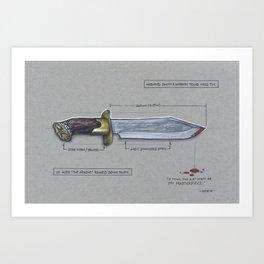Aldo Raine's Bowie Knife Art Print
