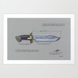 Aldo Raine's Bowie Knife Art Print