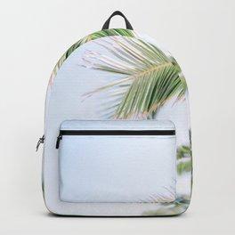 Milos 0006: Palm tree, Adamas, Milos, Greece Backpack