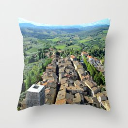 View from Torre Grossa, San Gimignano, Italy Throw Pillow