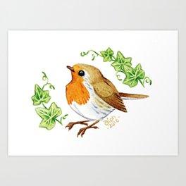 Robin & Ivy Art Print