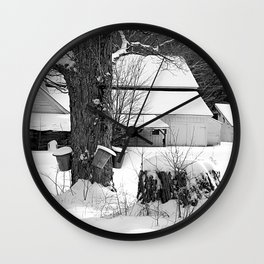 The beginning of Maple syrup season Wall Clock