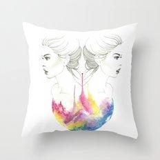 zodiac - gemini Throw Pillow