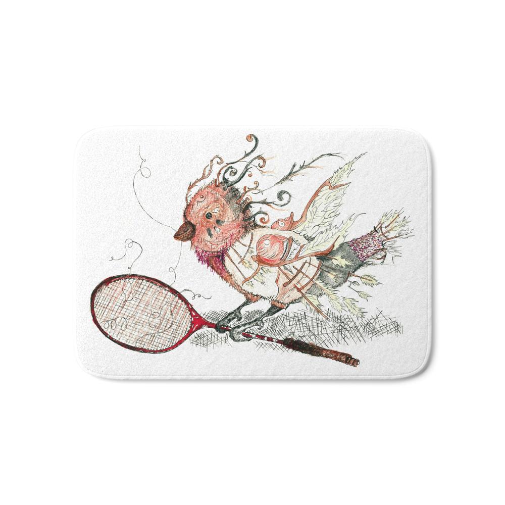 The Wild Badminton Birdie Bath Mat by creativecollision13