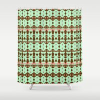 oasis Shower Curtains featuring Oasis #4 by Ornaart