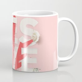 RESCUE ME | Digital typography floral poster pink Coffee Mug