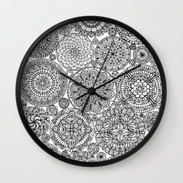 The Yang, Light Mandalas Wall Clock