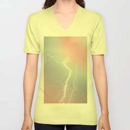 Lightning  Unisex V-Neck
