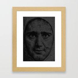 Man on the Moon Screenplay Print Framed Art Print
