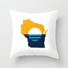 Wisconsin - People's Flag of Milwaukee Throw Pillow