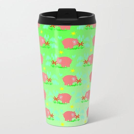 Pigs in clover Metal Travel Mug