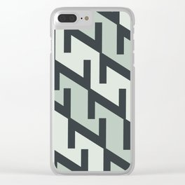 """Typographic Pattern """"Z"""" Clear iPhone Case"""