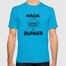 Nada Burger LARGE Teal Mens Fitted Tee