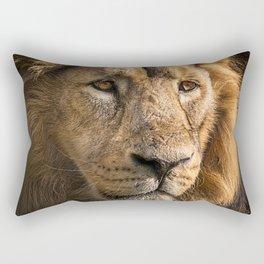 Mr. Lion King - Close up lion portrait Rectangular Pillow