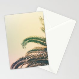 Minimal - Palm tree leafs photography I  Stationery Cards