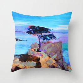 Lone Cypress - California Throw Pillow