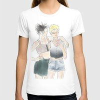 haikyuu T-shirts featuring KuroTsuki Haikyuu!! by Pruoviare