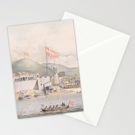 Vintage Pictorial View of Christiansted St Croix (1839) Stationery Cards