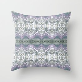 Arabidopsis flower stem microscopy cell pattern Throw Pillow