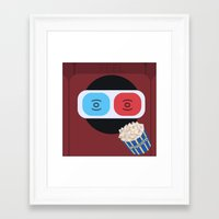 cinema Framed Art Prints featuring Cinema by Thomas Official