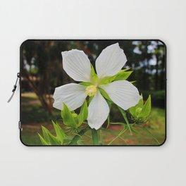 White Swamp Hibiscus Laptop Sleeve