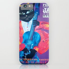 1994 Montreal Jazz Festival Cool Cat Poster No. 1 Gig Advertisement iPhone Case