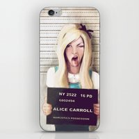 alice x zhang iPhone & iPod Skins featuring Alice by adroverart