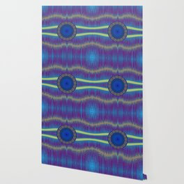 Blue Pattern with disc Wallpaper