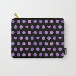 pink purple volleyballs & hearts pattern Carry-All Pouch
