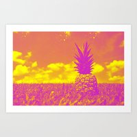 pinapple Art Prints featuring Pinapple  by creativenomad