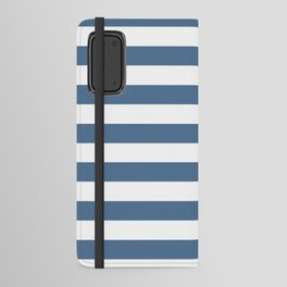 Blue and White Stripes Android Wallet Case