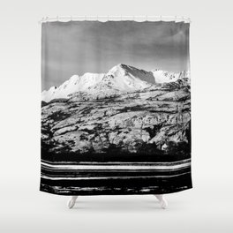 Black and White Mountain Photography Print Shower Curtain