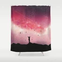 Stary Night Sky Galaxy Shower Curtain