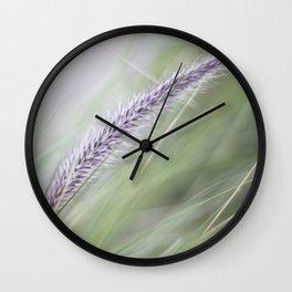 Wild Grass Wall Clock